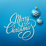 Merry Christmas Vector Lettering Royalty Free Stock Images
