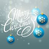 Merry Christmas Vector Lettering Stock Photo
