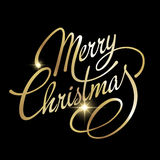 Merry Christmas Vector Lettering Royalty Free Stock Photos