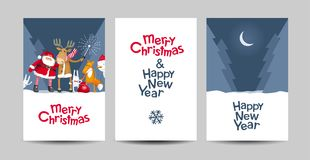 Merry Christmas vector lettering design template Royalty Free Stock Images