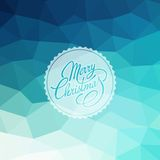 Merry Christmas Vector Lettering. Retro design Royalty Free Stock Photo