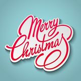 Merry Christmas Vector Lettering. Retro design Stock Photo