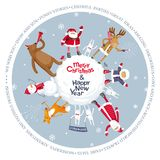 Merry Christmas vector planet. Christmas planet. Vector Merry Christmas image for greeting cards, posters, banners, sales and other winter events Royalty Free Stock Image