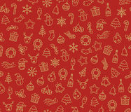 Merry Christmas vector seamless pattern Royalty Free Stock Image