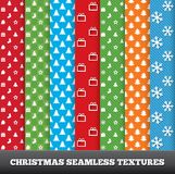 7 Merry christmas vector seamless patterns. Stock Photo