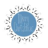 Merry Christmas vector seasonal design element Royalty Free Stock Photography