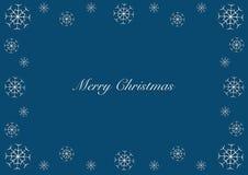 Merry Christmas vector snowy frame stock image