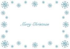 Merry Christmas a vector snowy frame stock photo