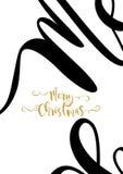 Merry Chrismas Card Royalty Free Stock Photography