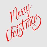 Merry Christmas vector text Calligraphic Lettering design royalty free illustration