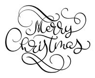 Merry Christmas vector text Calligraphic Lettering design card template.Creative typography for Holiday Greeting Gift Stock Photo
