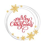 Merry Christmas vector text Calligraphic Lettering design card template.Creative typography for Holiday Greeting Gift Royalty Free Stock Images
