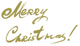Merry Christmas vector text Calligraphic Lettering design card template. royalty free stock images