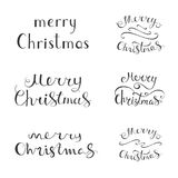 Merry Christmas vector text calligraphic lettering design Stock Photos