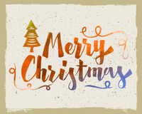Merry christmas vector text Royalty Free Stock Image