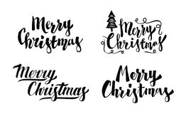 Merry christmas vector text Royalty Free Stock Photo
