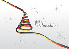 Merry christmas vector with text and icons in german Stock Images