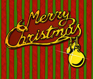 Merry Christmas vector text Royalty Free Stock Images