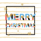 Merry Christmas. Vector unique artistic font brush strokes background Royalty Free Stock Photography