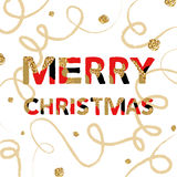 Merry Christmas. Vector unique artistic font brush strokes background Stock Images