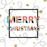 Merry Christmas. Vector unique artistic font brush strokes background Royalty Free Stock Photos