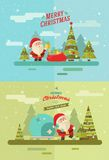 Merry christmas  vector winter background eps 10 Stock Image