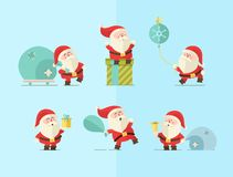 Merry christmas. vector winter background. Santa Royalty Free Stock Photo