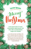 Merry Christmas vertical design. Royalty Free Stock Photography