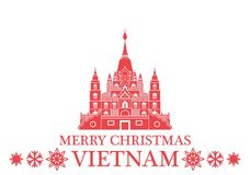 Merry Christmas Vietnam. Vector Illustration. illustration EPS Stock Photo