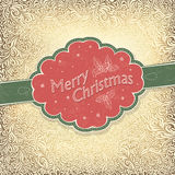 Merry Christmas vintage card Royalty Free Stock Photo