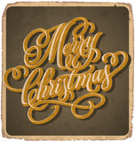 MERRY CHRISTMAS vintage card (vector) Royalty Free Stock Image