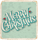 MERRY CHRISTMAS vintage card (vector) Royalty Free Stock Photography