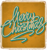 MERRY CHRISTMAS vintage card (vector) Royalty Free Stock Photo