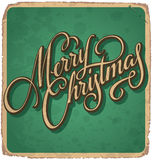 MERRY CHRISTMAS vintage card (vector) Stock Images