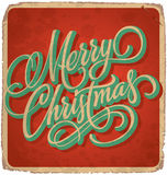 MERRY CHRISTMAS vintage card (vector) Stock Photography