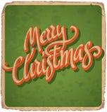 MERRY CHRISTMAS vintage card (vector) Royalty Free Stock Photos