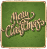 MERRY CHRISTMAS vintage card (vector) Stock Image