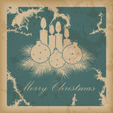 Merry Christmas vintage card Royalty Free Stock Image