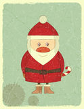 Merry Christmas Vintage card with Santa Claus Royalty Free Stock Image