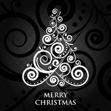 Merry Christmas vintage card Stock Photography