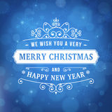 Merry christmas vintage curl background Royalty Free Stock Images