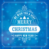 Merry christmas vintage curl background Royalty Free Stock Photos