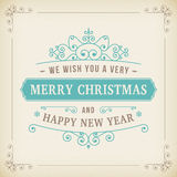 Merry christmas vintage curl on paper background Royalty Free Stock Photo