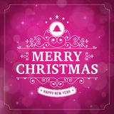 Merry christmas vintage curl violet  background Royalty Free Stock Photos