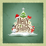 Merry Christmas vintage design background