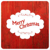 Merry Christmas VIntage Design On Red Planks Royalty Free Stock Photos