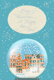 Merry Christmas vintage greeting card Royalty Free Stock Images