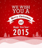 Merry Christmas vintage greeting card. Royalty Free Stock Images