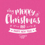 Merry christmas vintage hand drawing greeting card Royalty Free Stock Photography