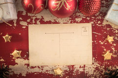 Merry christmas vintage hipster postcard template Royalty Free Stock Photos